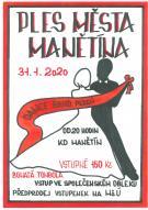 plakát na 17. ples města Manětín